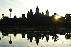 Sunrise in angkor wat Stock Photography