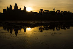 Sunrise in Angkor Wat Royalty Free Stock Images
