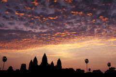 Sunrise- Angkor Wat, Cambodia Royalty Free Stock Photo