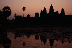 Sunrise at Angkor Wat in Cambodia Royalty Free Stock Image