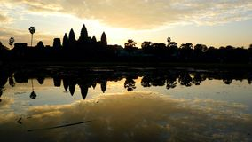 Sunrise at angkor wat, cambodia Royalty Free Stock Image
