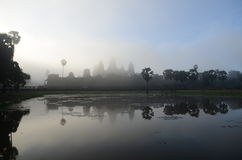 Sunrise at Angkor Wat ,Cambodia Royalty Free Stock Photos