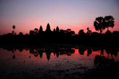 Sunrise at Angkor Wat Royalty Free Stock Images