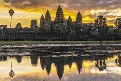 Sunrise at Angkor Wat Royalty Free Stock Photography