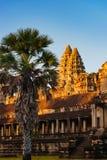 Sunrise of Angkor Wat Royalty Free Stock Photo