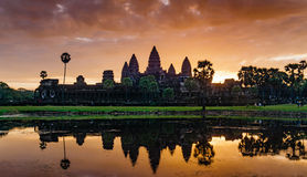 Sunrise of Angkor Wat Stock Image