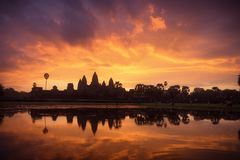 Angkor Wat, Siem Reap, Cambodia. Sunrise at Angkor Wat, Siem Reap, Cambodia Stock Photos