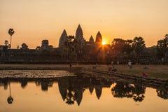 Sunrise in Angkor Wat, Siem Reap Cambodia Stock Images