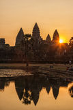 Sunrise in Angkor Wat, Siem Reap Cambodia Royalty Free Stock Photography