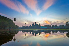 Sunrise at angkor wat temple, cambodia Royalty Free Stock Image