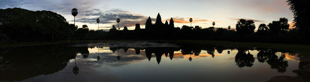 Sunrise, Angkor Wat Temple, Cambodia Royalty Free Stock Image