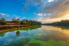 Sunrise at angkor wat temple Stock Photos