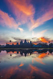 Sunrise at angkor wat temple Royalty Free Stock Photos