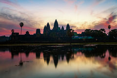 Sunrise at angkor wat temple Stock Images