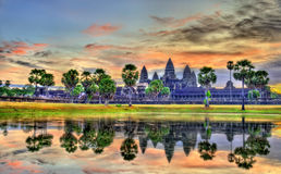 Sunrise at Angkor Wat, a UNESCO world heritage site in Cambodia Stock Image