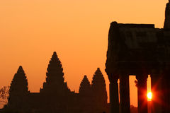Sunrise at Ankor Wat Stock Photography