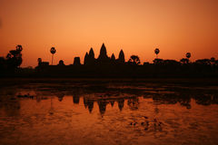 Sunrise at Ankor Wat Stock Photos