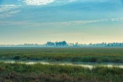 Sunrise at Anlung Pring Protected Landscape Stock Image
