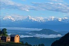 Sunrise Annapurna Himal, Nepal Himalaya stock image
