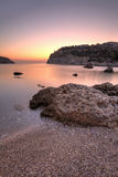 Sunrise at Anthony Quinn's Bay, Rhodes Stock Images