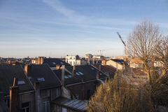 Sunrise in Antwerp. Beautiful morning in Antwerp. The view and the sunrise is amazing Stock Photos