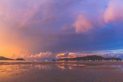 Sunrise at Ao Chalong Stock Image