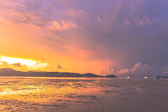 Sunrise at Ao Chalong Royalty Free Stock Photos
