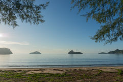 Sunrise at Ao Manao beach, Prachuap Khiri Khan Province Royalty Free Stock Photography