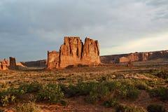 Sunrise at Arches National Park stock photos