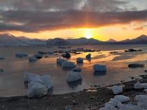 Sunrise in the Arctic Stock Images