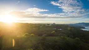 Sunrise from Arenal royalty free stock photos