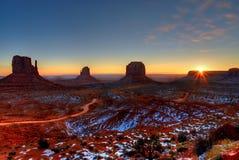 Sunrise Arizona Monument Valley Stock Photo