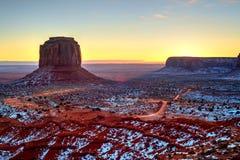Sunrise Arizona Monument Valley Stock Photography