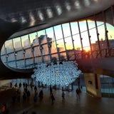 Sunrise at Arnhem central station Royalty Free Stock Images