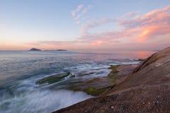 Sunrise at Aropoador, Rio de Janeiro. Landscape at Arpoador rocks, Rio de Janeiro, Brazil Royalty Free Stock Images