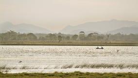 Sunrise in Arugam bay lagoo, Sri Lanka Stock Photography