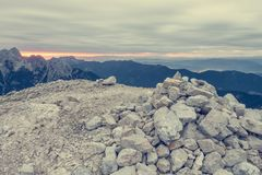 Sunrise as seen from a mountain top. Stock Photography