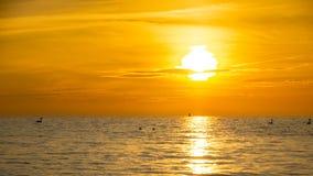 Sunrise on the Baltic sea, Sopot, Poland. Sunrise or as you wish sunset on the Baltic sea, Sopot, Poland royalty free stock photos