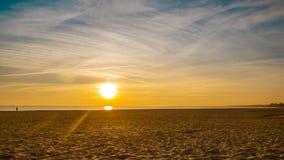 Sunrise / sunset on the Baltic sea, Sopot, Poland. Sunrise or as you wish sunset on the Baltic sea, Sopot, Poland royalty free stock image