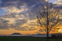 Sunrise of Asagiri Plateau Royalty Free Stock Images
