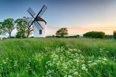 Sunrise at Ashton Windmill Royalty Free Stock Image