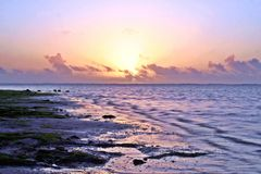Sunrise At A Beach Royalty Free Stock Image