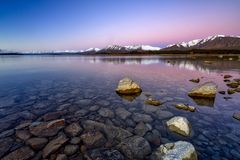 Sunrise At Lake Tekapo, South Island, New Zealand Stock Photography