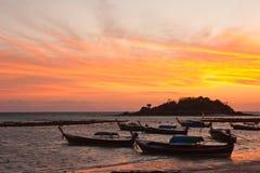 Sunrise At Lipe Island, South Of Thailand Royalty Free Stock Images