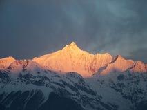 Sunrise At Meili Mountain Stock Photo