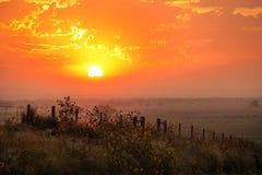 Free Sunrise At North Platte River Valley, Nebraska, USA Stock Photo - 139195860