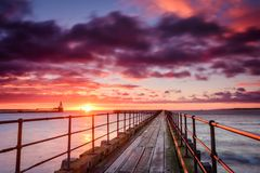 Sunrise At River Blyth Harbour Royalty Free Stock Image