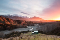 Sunrise At Rural New Zealand Royalty Free Stock Photography