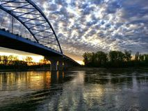 Sunrise in Atchison Kansas Royalty Free Stock Photography