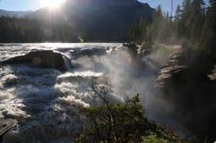 Sunrise Athabasca Falls Stock Photo